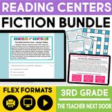Reading Games Fiction Bundle | Reading Centers 3rd Grade