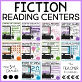 Reading Games Fiction Bundle | Reading Centers 3rd Grade