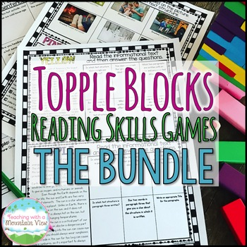 Topple Blocks™ Reading Games Bundle