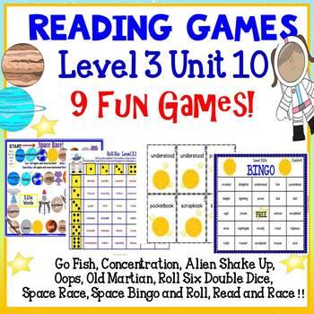 Reading Games -  Vowel Teams - Level 3 Unit 10 - 9 Fun Games!