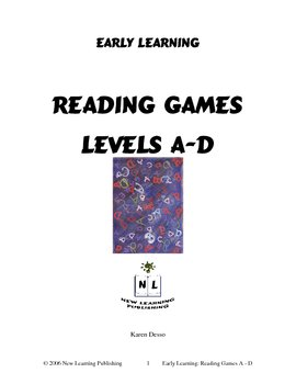 Reading Games: Levels A - D