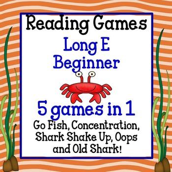 Reading Games - Long E Words Beginner
