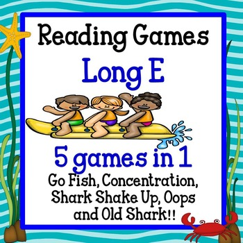 Reading Games -Long E words Advanced