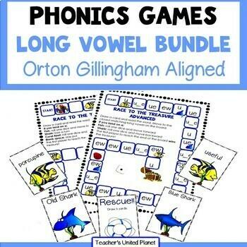 Reading Games - Long Vowel Bundle Advanced!