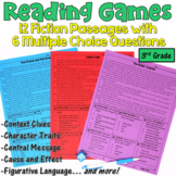 Reading Games for 3rd Grade: 12 Fiction Passages