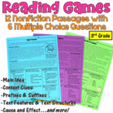 Reading Games for 3rd Grade: 12 Nonfiction Passages