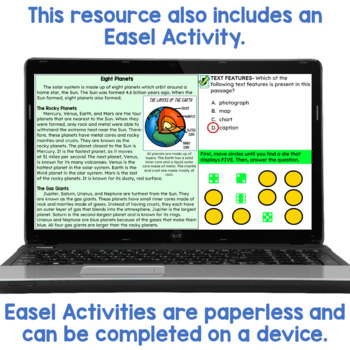 Reading Games for 3rd: Nonfiction Passages   PDF and Digital   Distance Learning