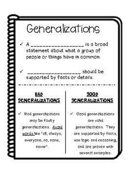 Reading: Generalizations