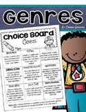Reading Genre Activities Choice Board Tic Tac Toe