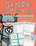 Reading Genre Activities (Matching Game, Surveys, Quiz, Book Review)