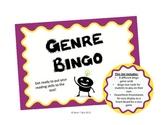 Reading Genre Bingo Game