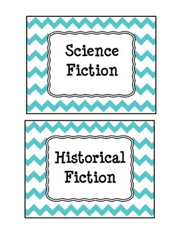 Chevron Reading Genre Bundle