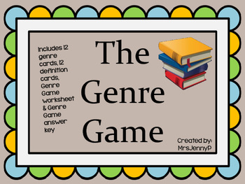 Reading Genre Game