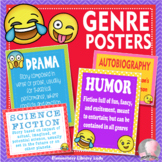 """Library Posters for Classroom Reading Genres Posters - 8.5"""" x 11"""""""