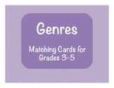 Reading: Genre Matching/Memory Cards: Grades 3-5