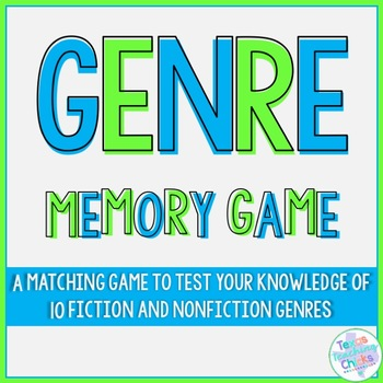 Reading Genre Memory Game