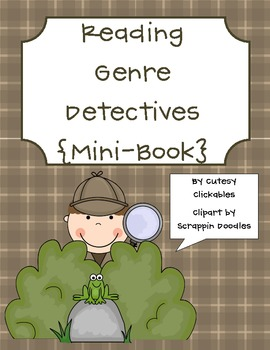 Reading Genre Mini-book Printable- Be a detective!