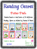 Reading Genre Poster Set with Definitions WITHOUT the Yell