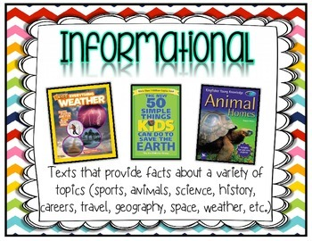 Reading Genre Posters - 8 Themes - 100+ Pages