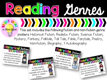 Reading Genre Posters {Black and Brights Collection}