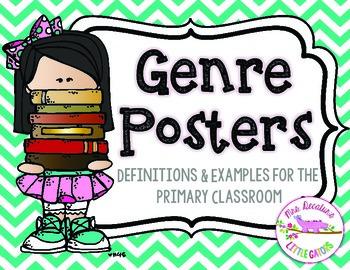 Reading Genre Posters Bright Chevron