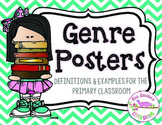 Reading Genre Posters Bright Chevron