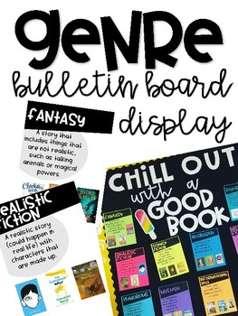 Reading Genre Posters Bulletin Board Display
