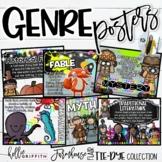Reading Genre Posters | Farmhouse Flair Tie-Dye Classroom Decor