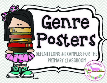 Reading Genre Posters Grey Chevron
