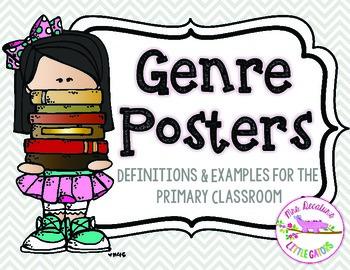 Reading Genre Posters Grey Chevron