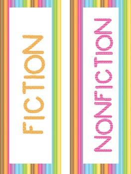 Reading Genre Posters! (Ice Cream color Theme)