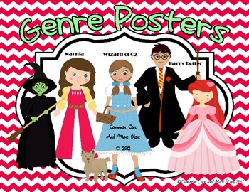 Reading Genre Posters Set Wizard of Oz, Narnia, Harry Potter, and More
