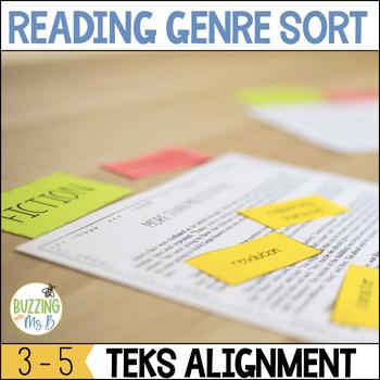 Reading Genre Sort, TEKS aligned