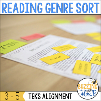 Reading Genre Sort TEKS aligned