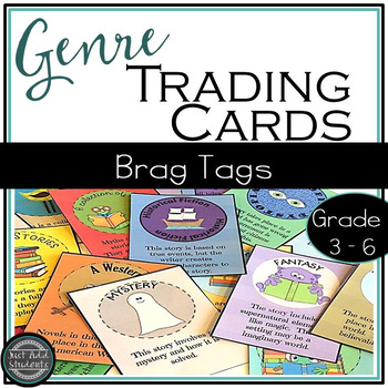 Reading Genre Trading Cards ♦ 40 Book Challenge ♦ Brag Tags
