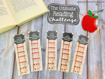 Reading Challenge. Editable Reading Logs, Book Tracker, Bookmarks