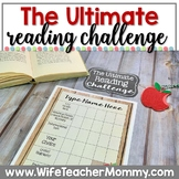Editable Reading Challenge, Reading Logs, Book Tracker