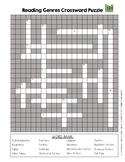 Reading Genres Crossword Puzzle