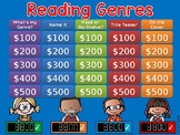 Reading Genres Jeopardy Style Game Show GC Distance Learning