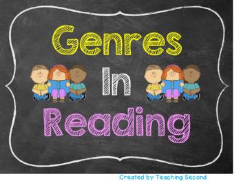 Reading Genres Poster (Chalkboard design)