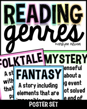 Reading Genres Poster Set
