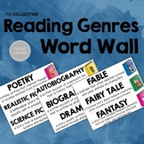 Reading Genres Word Wall - From the TC Collection