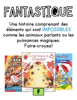 French Reading Genre posters - Affiches