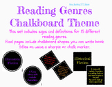 Reading Genres in a Chalkboard Theme