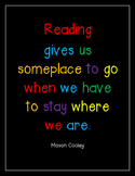 Reading Gives Us Someplace to Go - Poster