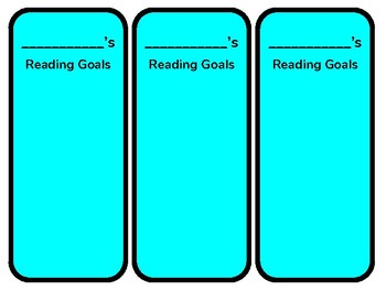 Reading Goal Bookmarks