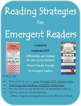 Reading Goal Bookmark Strategies on Label
