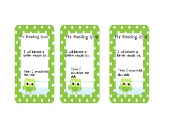 Reading Goal Bookmarks!