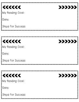 Reading Goal Bookmarks - FREEBIE