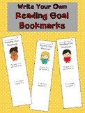 Reading Goal Bookmarks Write Your Own